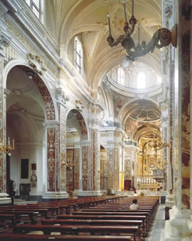 Apulia, Monopoli - the baroque sumptuousness of the cathedral - Credit - De Agostini Picture Library