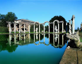 Latium, Tivoli - Hadrian's Villa, no other emperor attained such levels of luxury - Credit - De Agostini Picture Library