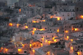 Magic lights at Matera - Credit - APT Basilicata
