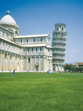 Tuscany, Pisa - Piazza dei Miracoli and the miracle of the Leaning Tower that lingers in the memory - Credit - De Agostini Picture Library
