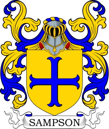 SAMPSON family crest